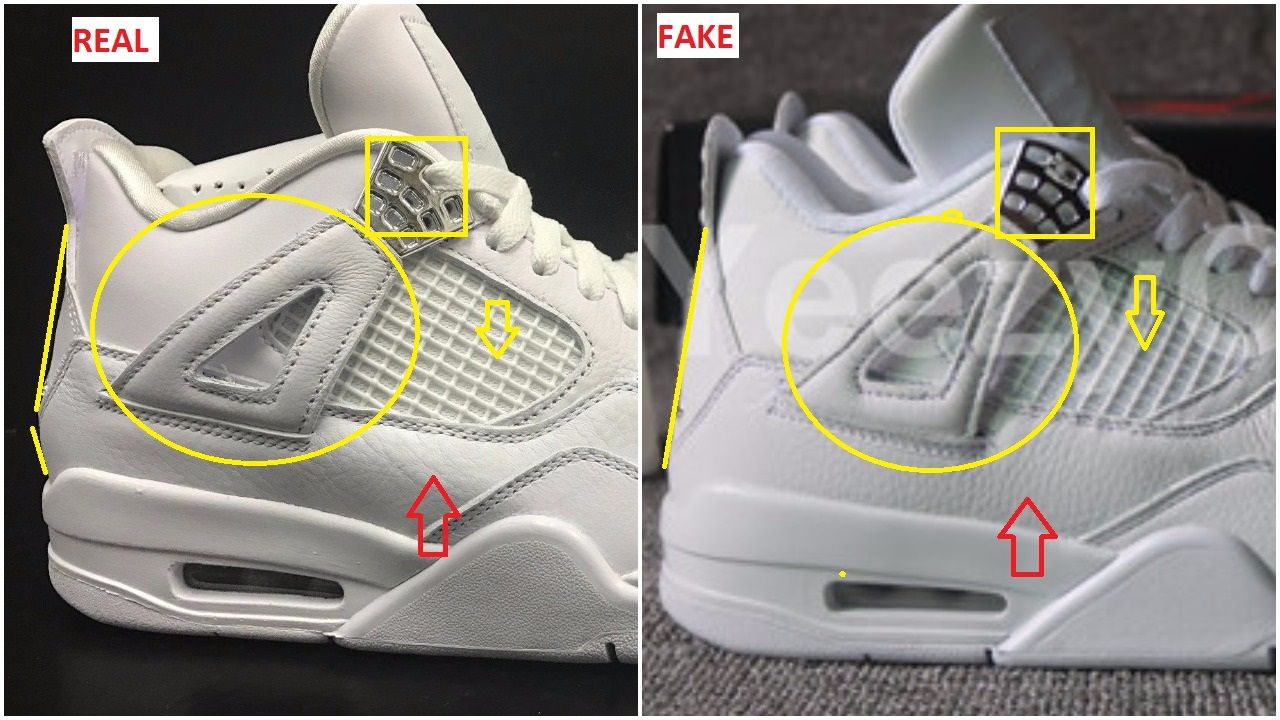 a5554cceca8 Quick Tips To Bust The Fake Air Jordan 4 Pure Money in 2019 | Don't ...