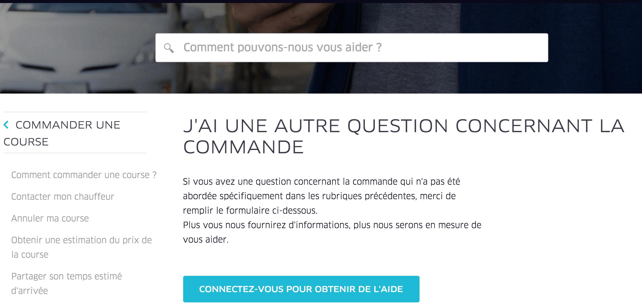 Service client Uber France Numéro de téléphone