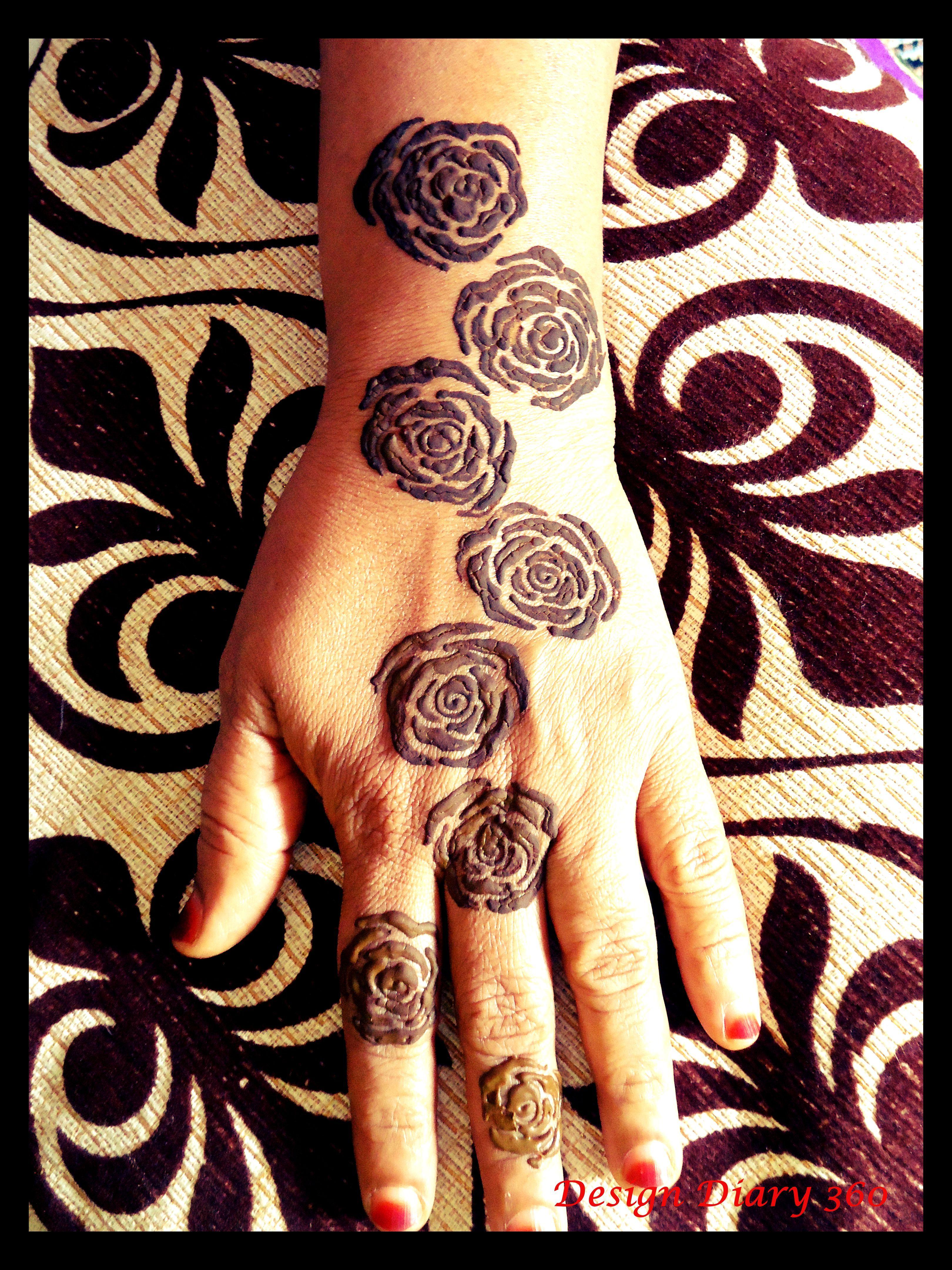 Step By Step Arabic Roses Mehndi Tutorial 3 Rose Mehndi Designs