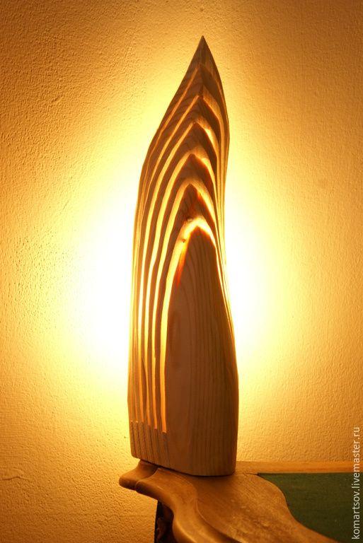 """Купить Светильник """"Пламя"""" - бежевый, светильни, светильник из дерева, свтильники ручной работы, Дерево натуральное"""