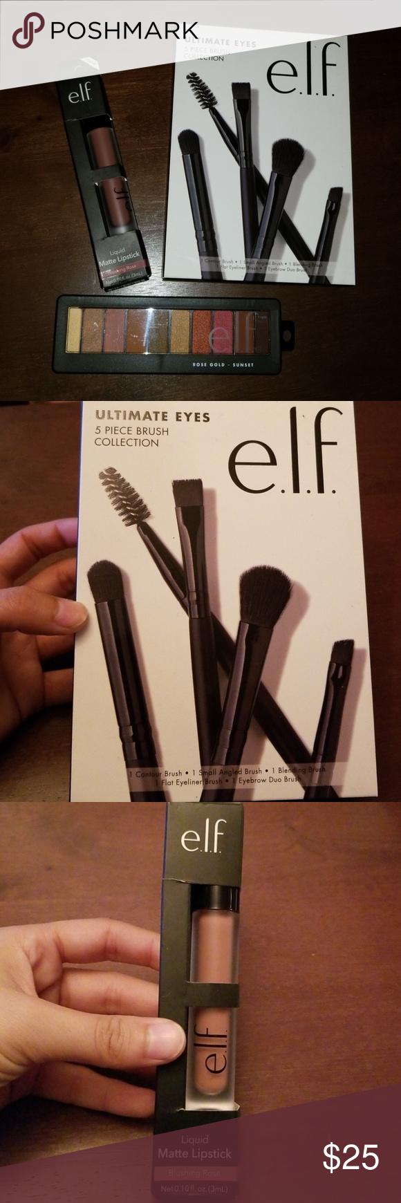 Elf Makeup Bundle NWT Makeup bundles, Eye brushes set