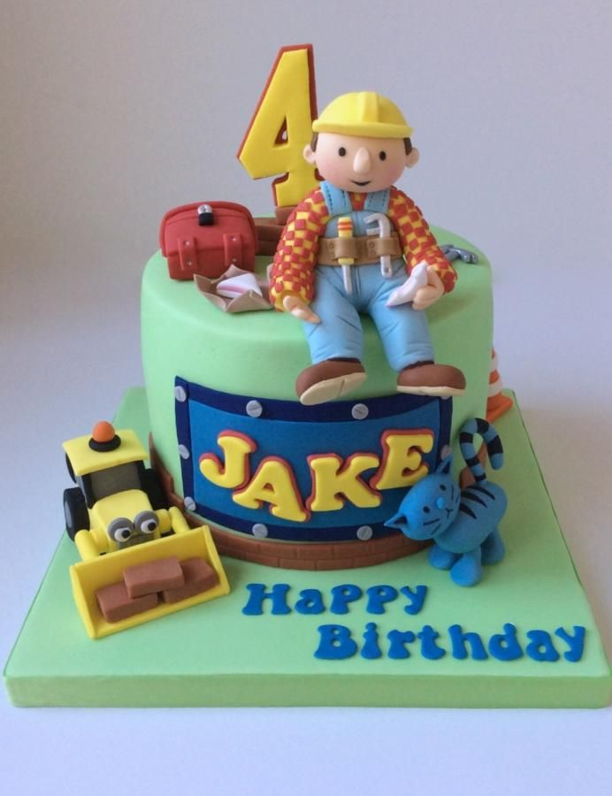 Bob The Builder Cake Cake By Lizzie Bizzie Cakes Babylove