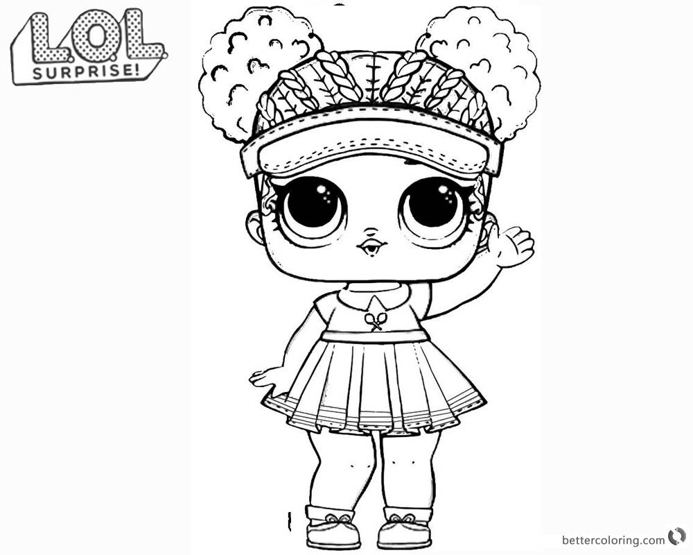 Lol Surprise Doll Coloring Pages Series 2 Court Champ With Images