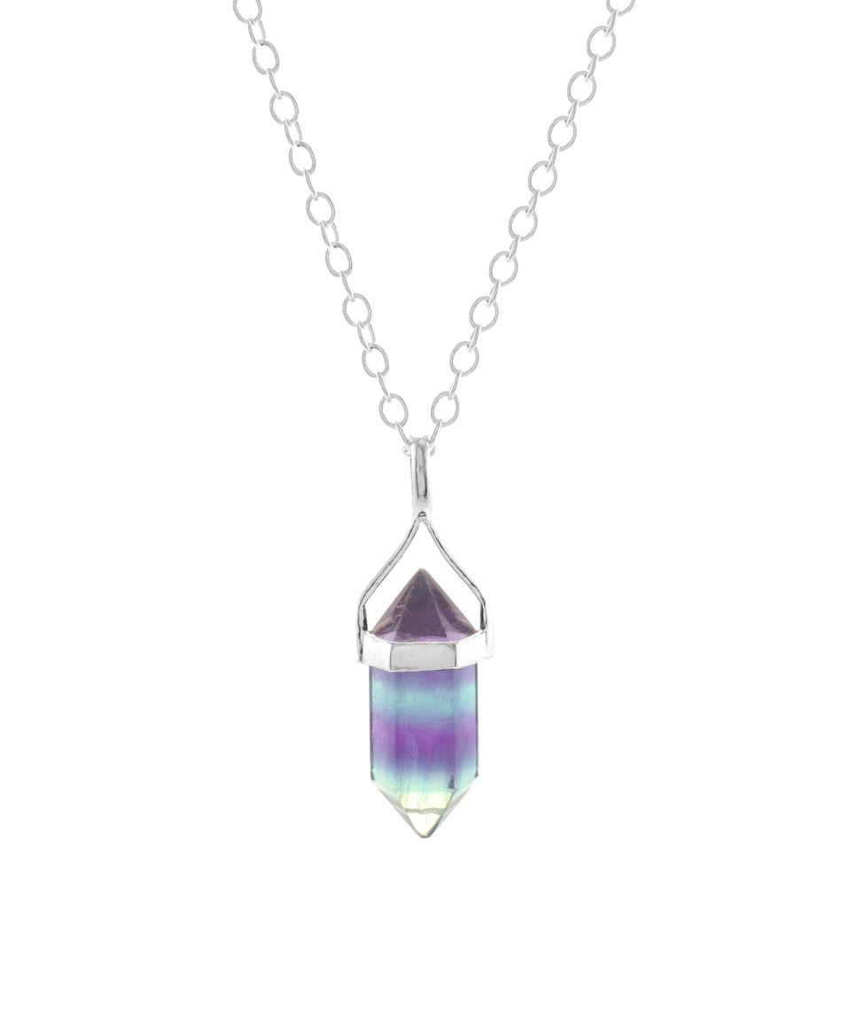 Loving This Purple Amp Sterling Silver Fluorite Wand Pendant