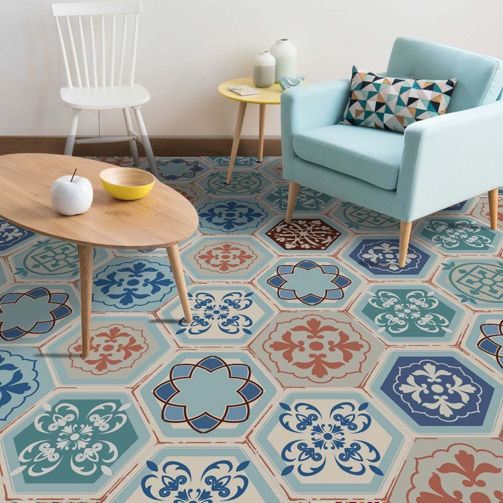 Buy Fancyku Antislip Removable 3d Floor And Wall Pvc Sticker For Bathroom And Kitchen Pattern 09 10 Pieces Online Bathroom Wall Decals Vintage Tile Diy Tile