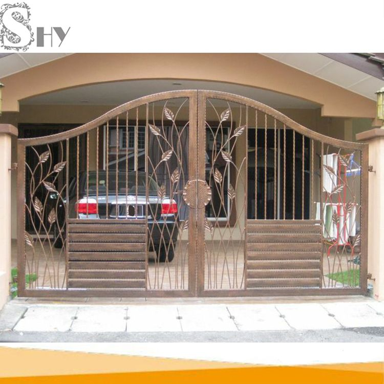 Latest Cheap Indian House Wrought Iron Steel Main Gate Designs For