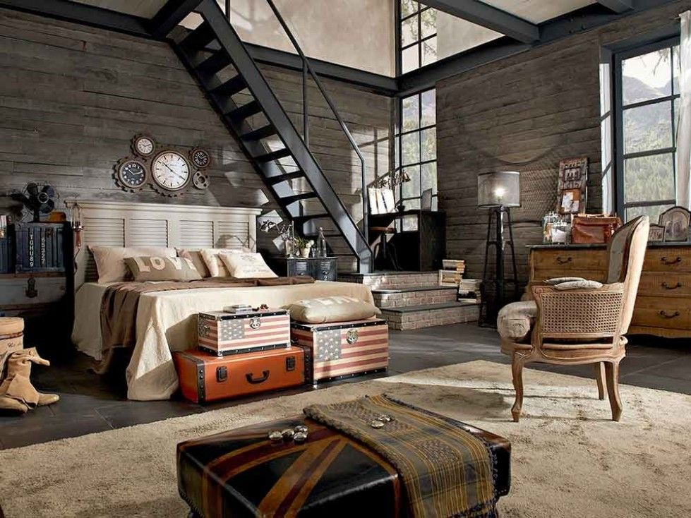 Loft in stile americano bauli con bandiera americana lofts for Arredamenti loft