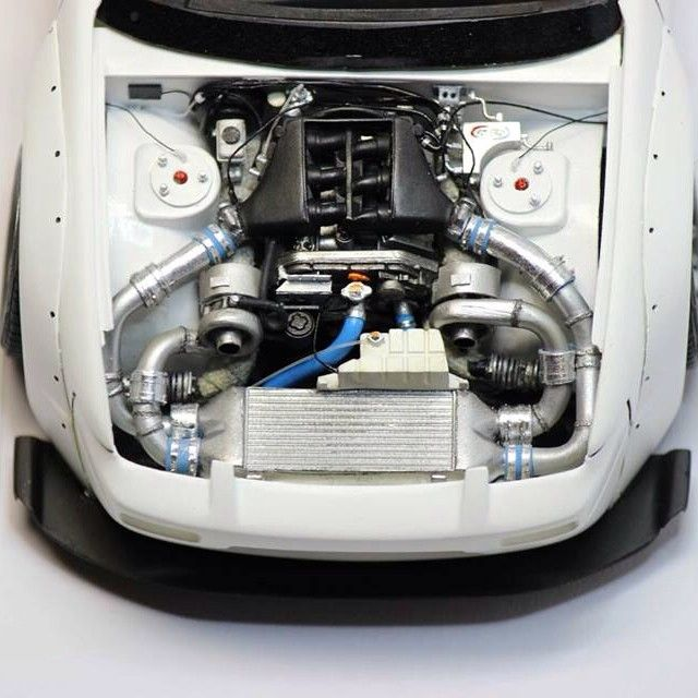 Small Plastic Turbocharger: Car & Truck Scale Models