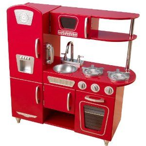 KidKraft Red Retro Vintage Kitchen - now to find the perfect accessories to go with this kitchen for my little cook.