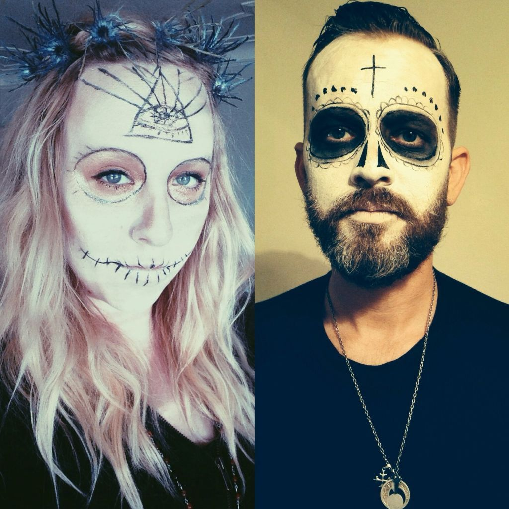 Image Result For Day Of Dead Make Up Man With Beard Halloween