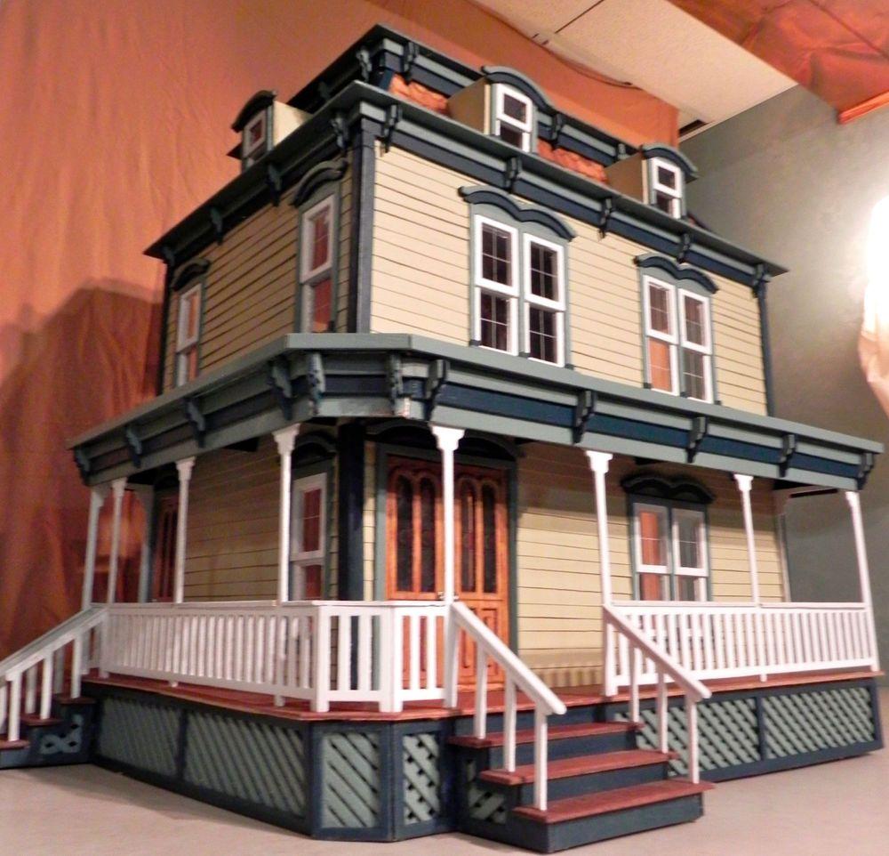 Dollhouse Miniatures Texas: Custom Made Wooden Dollhouse ~ The Lily