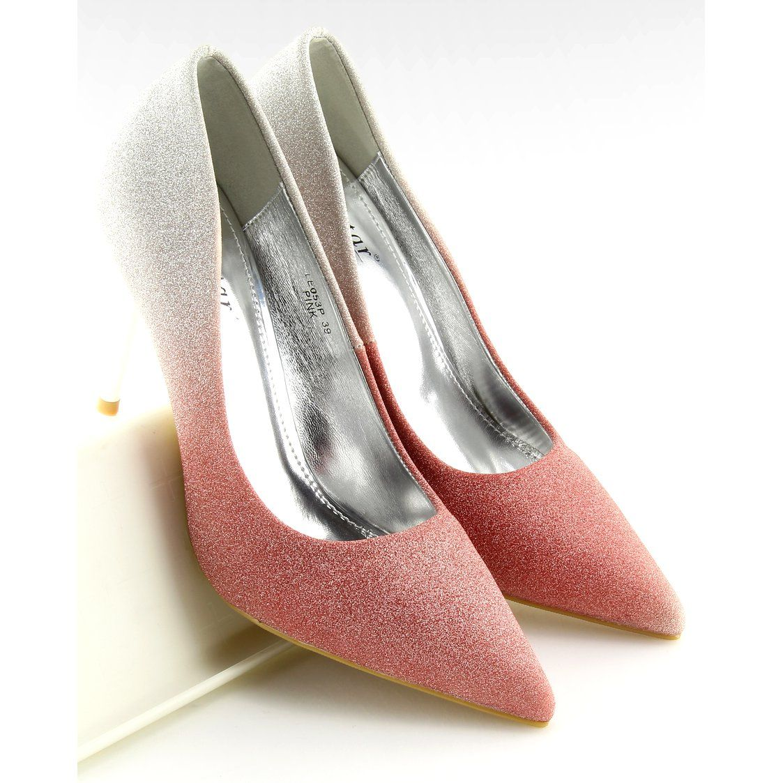 Czolenka Damskie Butymodne Rozowe Szpilki Opalizujace Ombre Rozowo Szare Heels Shoes Fashion