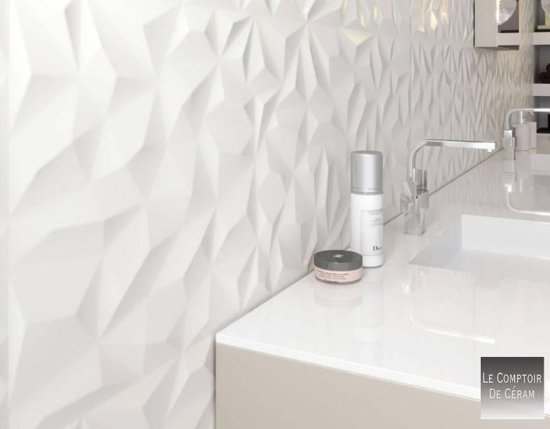 19++ Faience salle de bain vague blanc trends