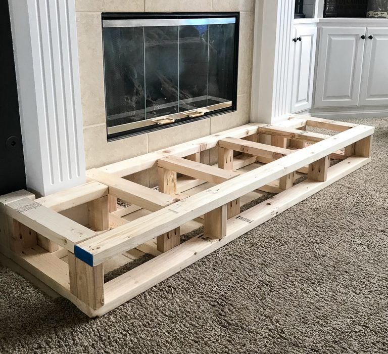 How To Build A Raised Fireplace Hearth Repurpose Life Fireplace Hearth Build A Fireplace Diy Fireplace Makeover