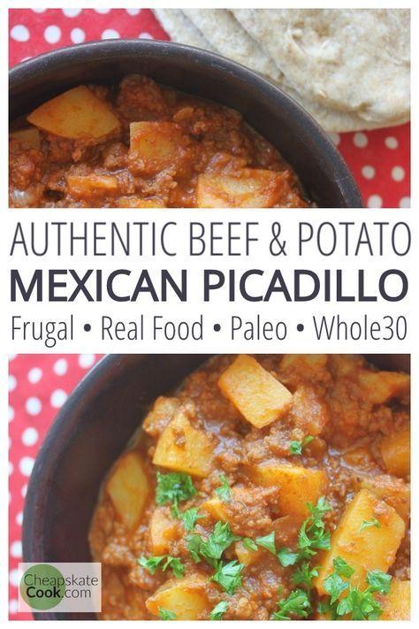Picadillo (Mexican Beef & Potato Stew) • Cheapskate Cook