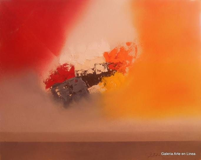 José Contreras Campos de Luz VI Categoría: Pintura.Técnica: Oleo sobre HDF. Medidas: 40 x 50 cms.Fecha: 2015.Enmarcada: No. Firmada: Si.  #arte #art #josecontreras #arteabstracto #abstractart #gael #pasionporelarte #galeriartenlinea