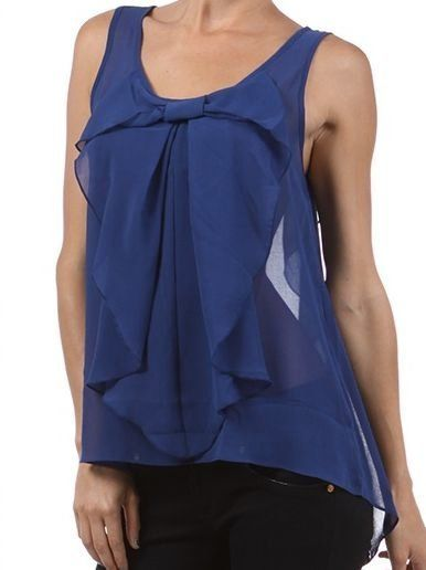 Bow Top with Back Detail in Blue - $22.00 : FashionCupcake, Designer Clothing, Accessories, and Gifts