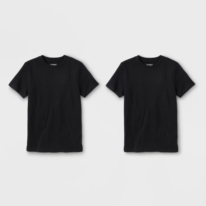 Boys 2pk Short Sleeve T Shirt Cat Jack Black Target Membuat Baju Kaos Baju Kaos