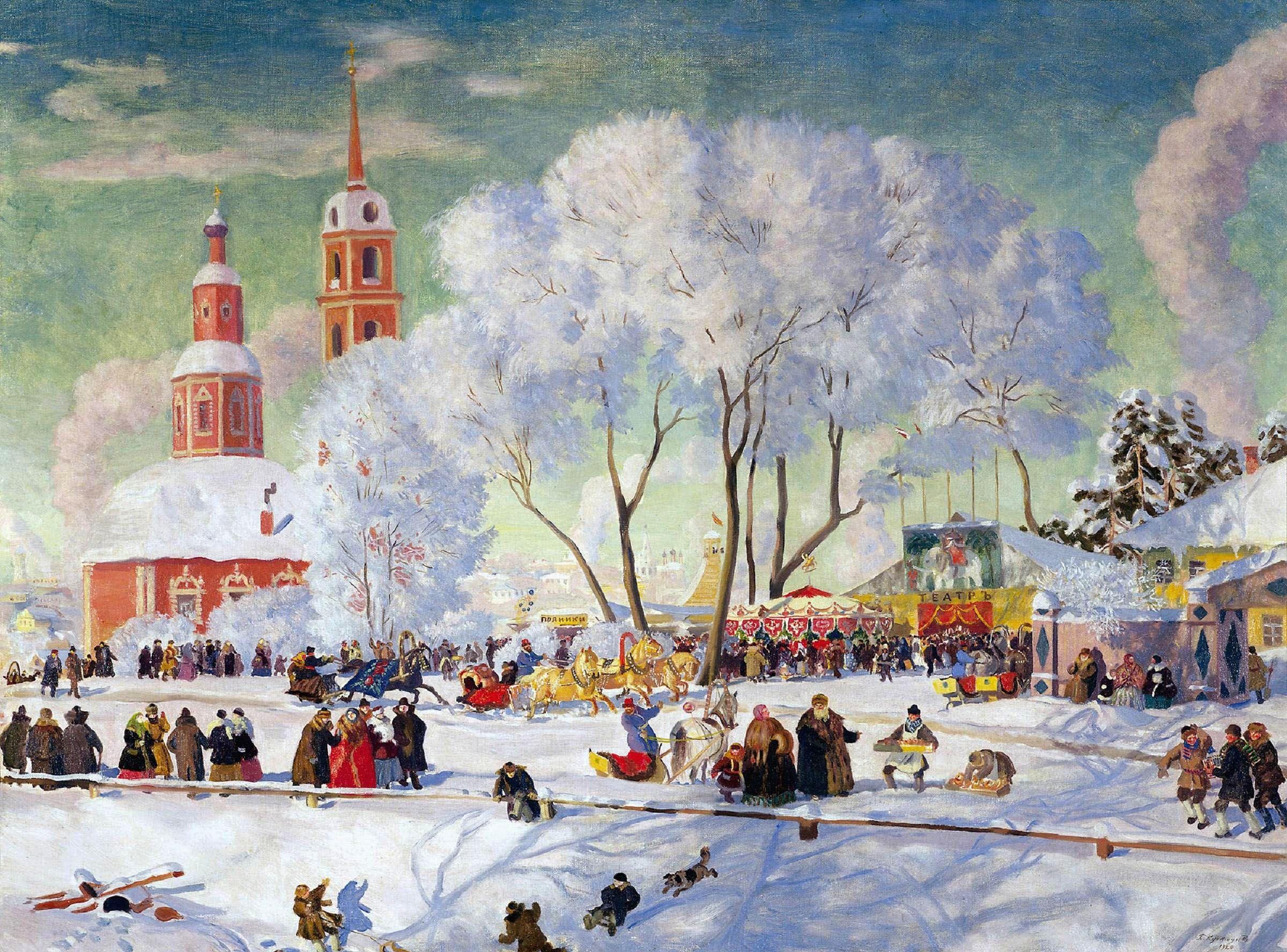 Carnaval Maslenica 1920 Boris Mijailovich Kustodiev Boris