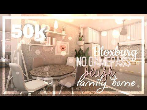 Bloxburg Blush Family Rp House No Gamepasses 50k Youtube Modern Family House Unique House Design Diy Girls Bedroom