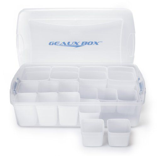 Incroyable Extra Large Clear Plastic Storage Container With Divider Bin Compartments  And Latch Lid   Underbed Or