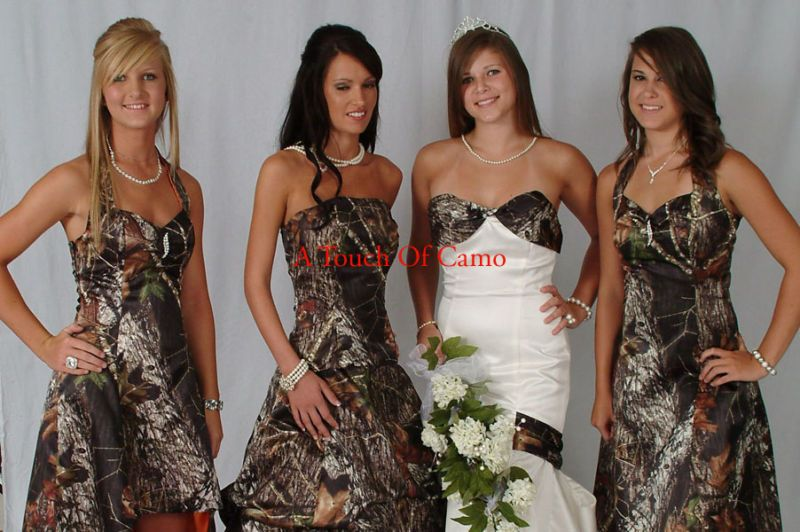 Perfect Camo Wedding Dress