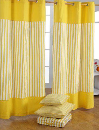 Homescapes dekorativer Vorhang Ösenvorhang Dekoschal Thick Stripes