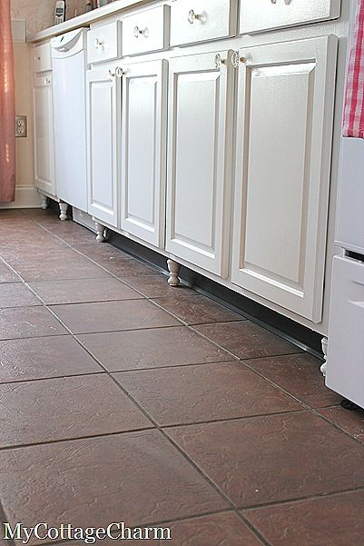 how to make cabinet feet