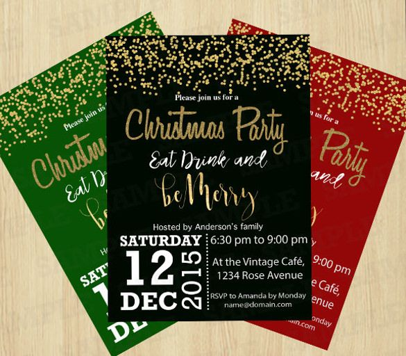Christmas Eve Get Together Invitation Template Office Work