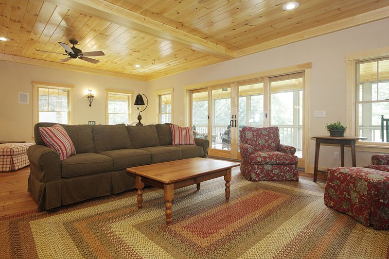 Lake Cottage, Living Rooms And