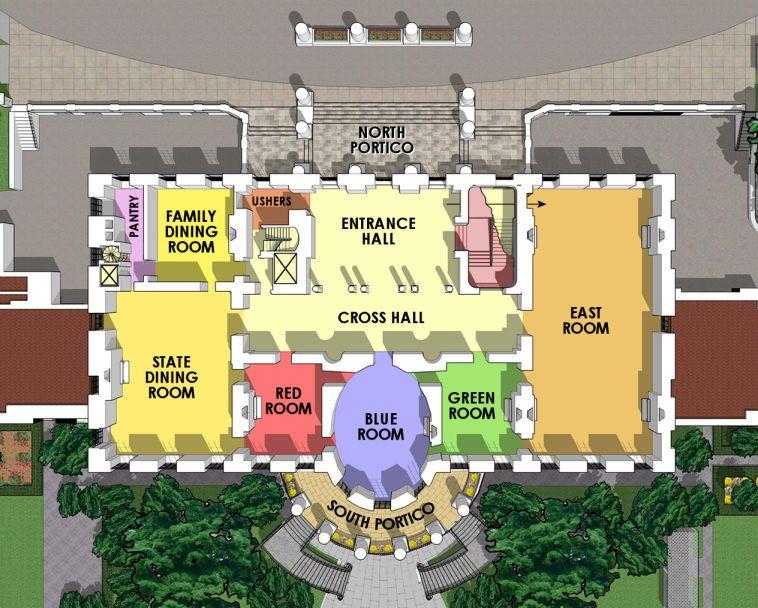 White House Floor Plan First Floor In 2020 White House Plans White House Usa White House Tour