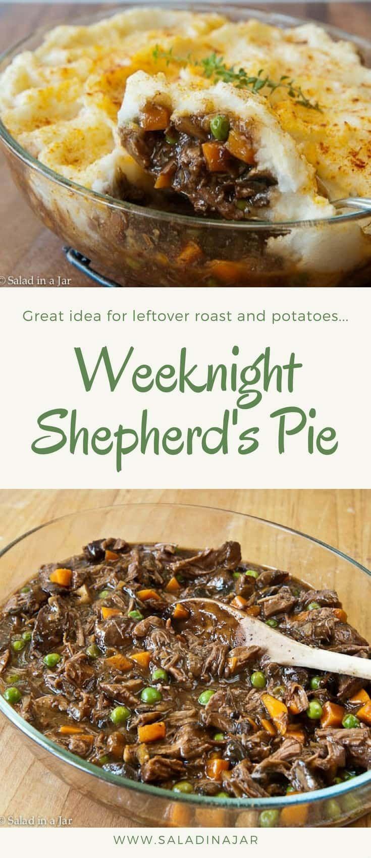 Easy Weeknight Shepherd S Pie With Leftover Roast Beef Recipe Leftover Beef Recipes Roast Beef Recipes Leftover Prime Rib Recipes