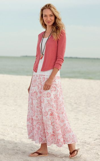 Summer long skirt. Aug. 26 A Gift Cut Sewn Buttoned - Clothes are a gift--feminine modest ...