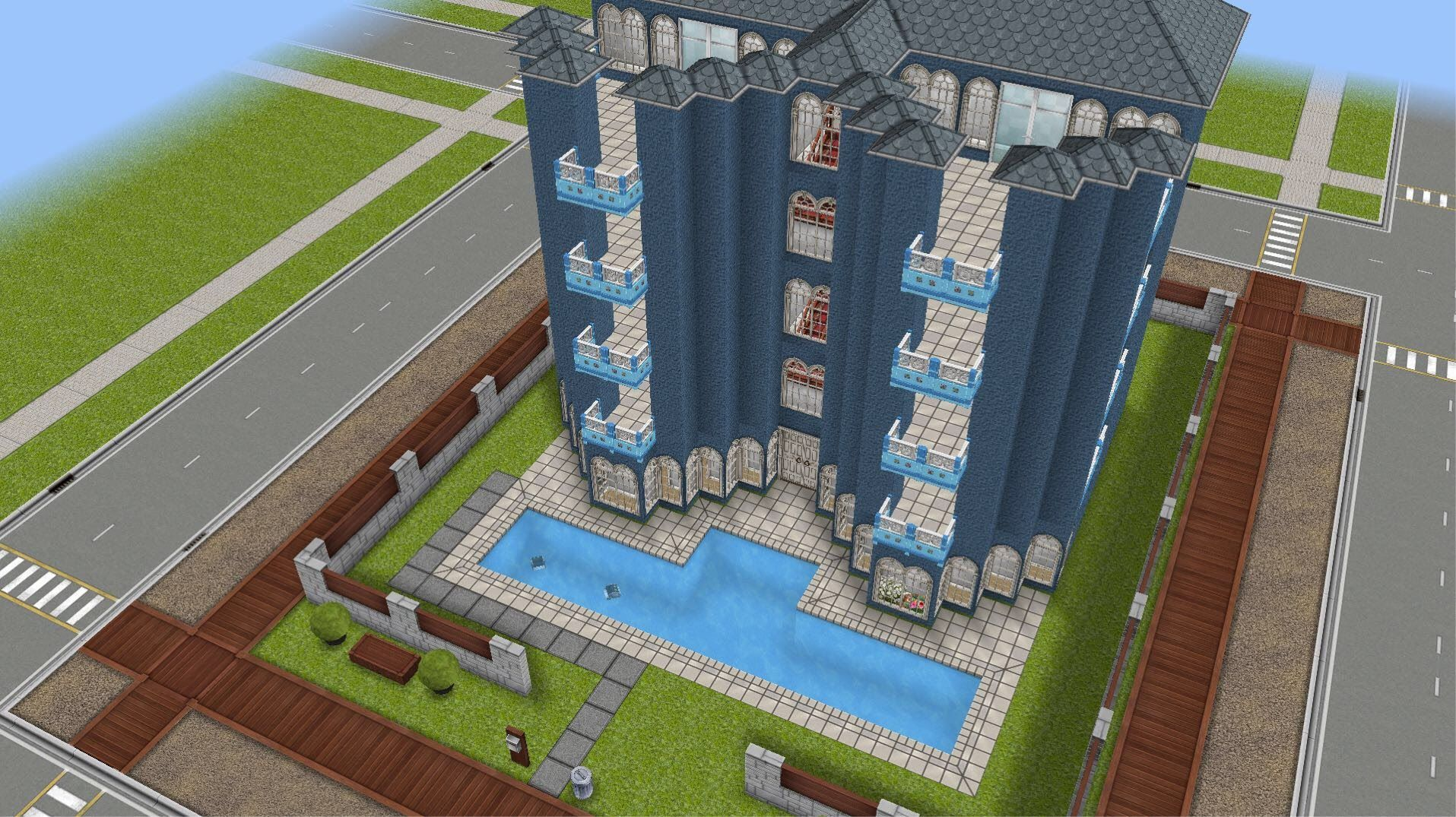 The Sims FreePlay   Apartment Building By Liz Gem