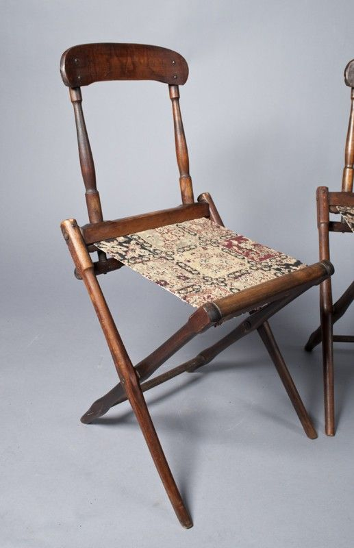653: (4) Civil War Campaign Chairs : Lot 653