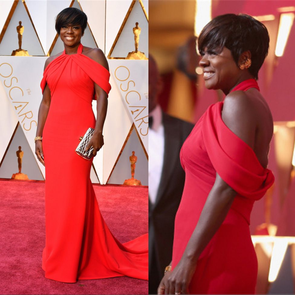 oscars dress red carpet dresses viola davis red prom dresses