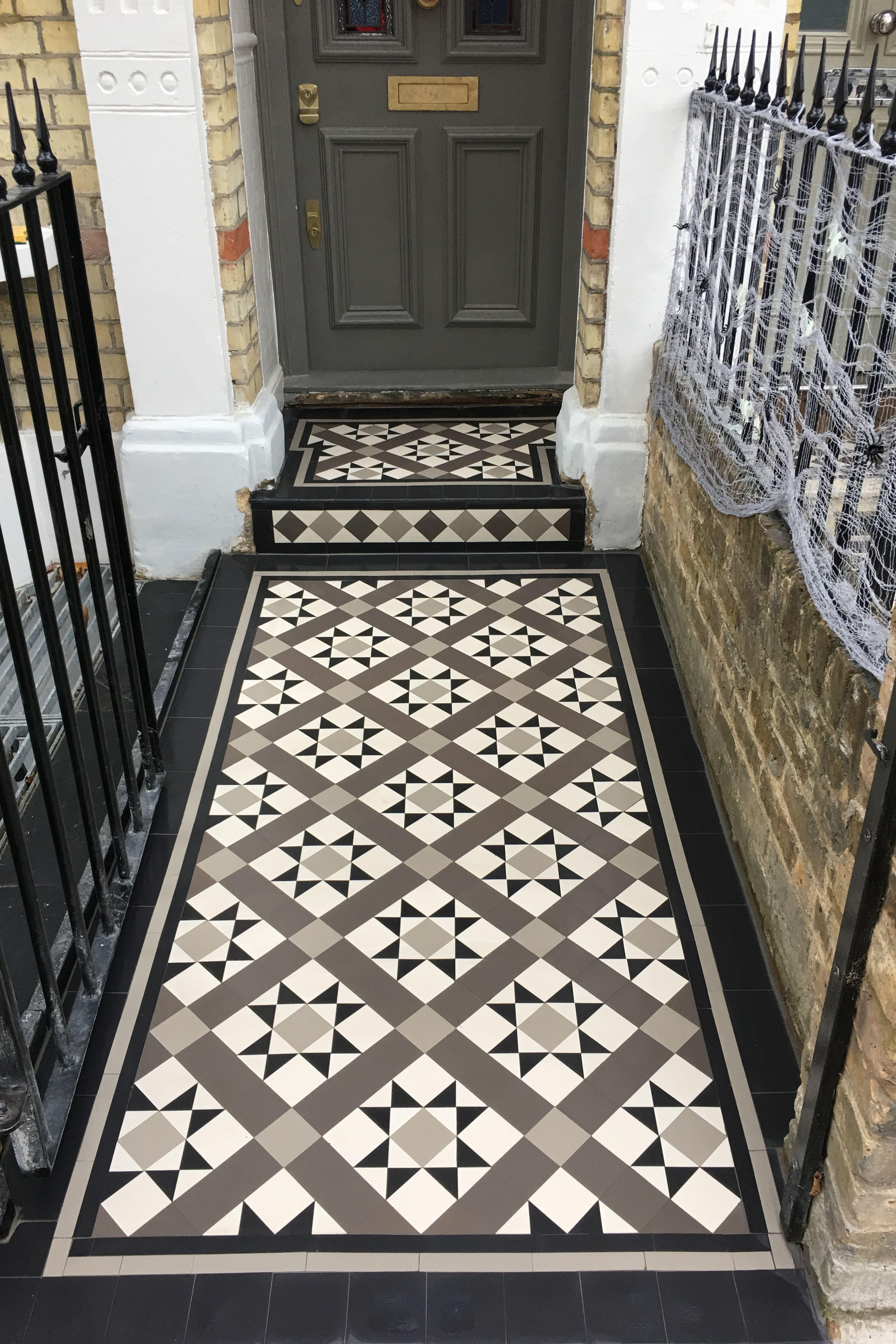 London Mosaic Grey Mosaic Floor Tiles Www Londonmosaic Com Grey Victorian Pathway Greyvictorianflo Modern Floor Tiles Porch Tile Tiled Hallway