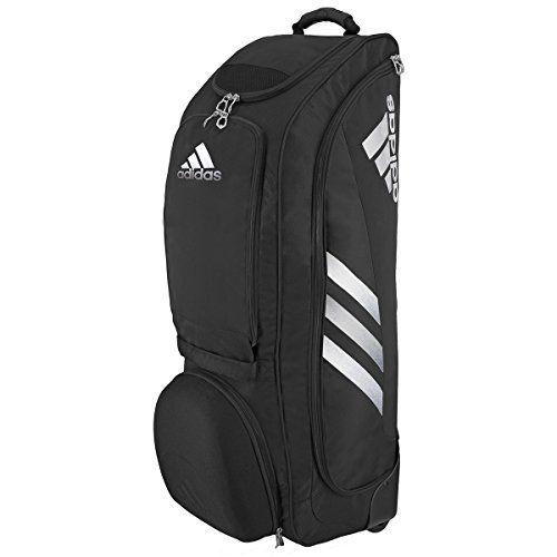 Discounted adidas Utility Wheeled Baseball Softball Bat Bag, Black Silver,  One Size  5141298  5141298  716106800702  adidas ... a96493e9c4