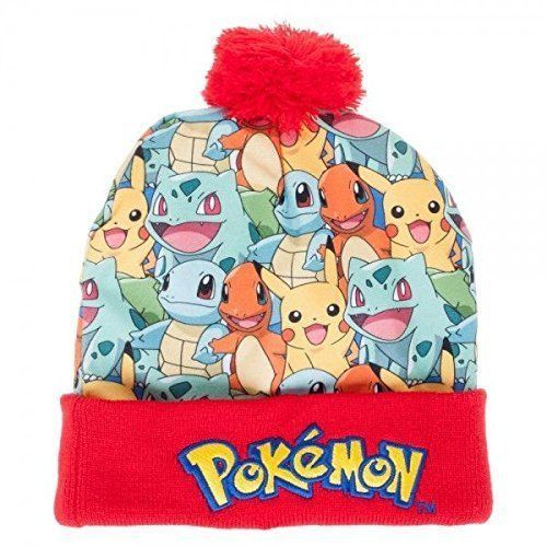 b65372052d26a0 Pokémon Starter Group Sublimated Pom Beanie HAT SALE #Pokemon #Beanie
