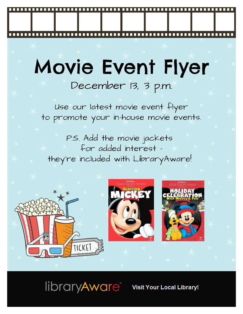 is your library hosting movies libraryaware s latest movie flyer