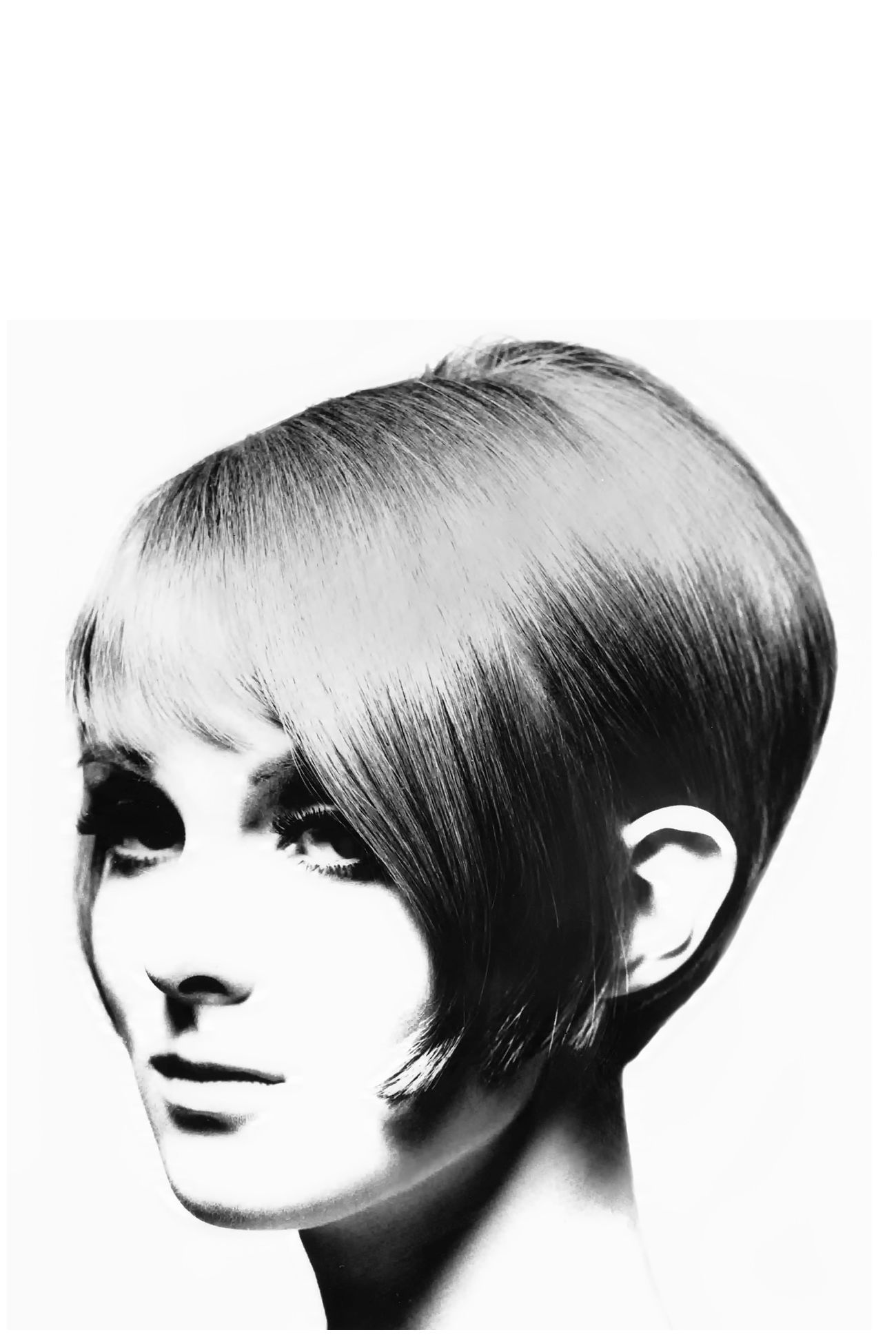 Grace Coddington With A Vidal Sassoon Haircut 1963 Voguettes