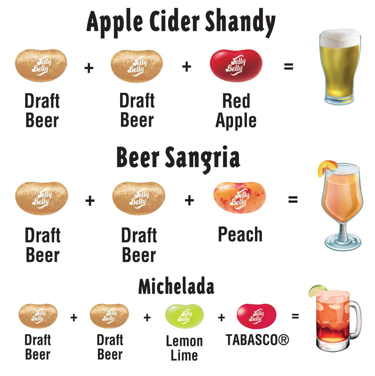 Try Your Hand At Mixology With These Draft Beer Jelly Belly Jelly Bean Recipes