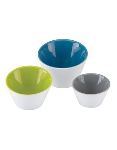 Brighten your dinner table with the colors of The Burbs Blue Slant Bowl Set. Each bowl is in a color of contemporary dinnerware bright green medium bl.  sc 1 st  Pinterest & The Burbs Slant Bowls Set of 3 | Hudsonu0027s Bay | Dining | Pinterest ...