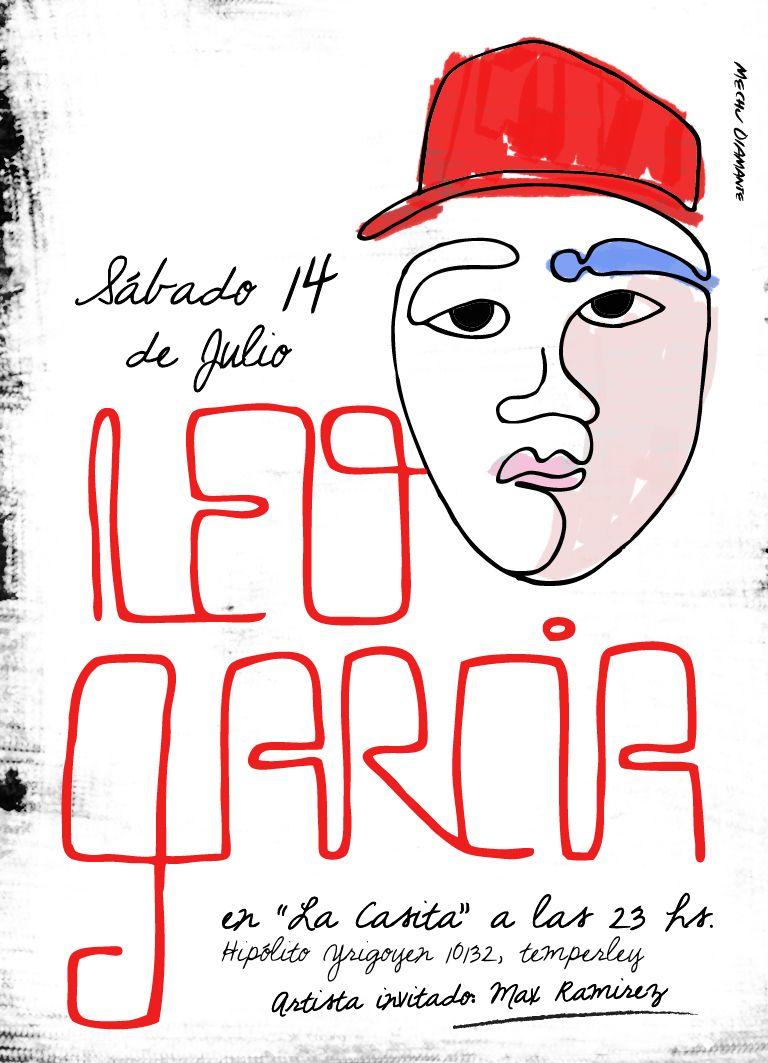 Diseño de flyer para Leo Garcia  http://www.leogarciamusic.com.ar/