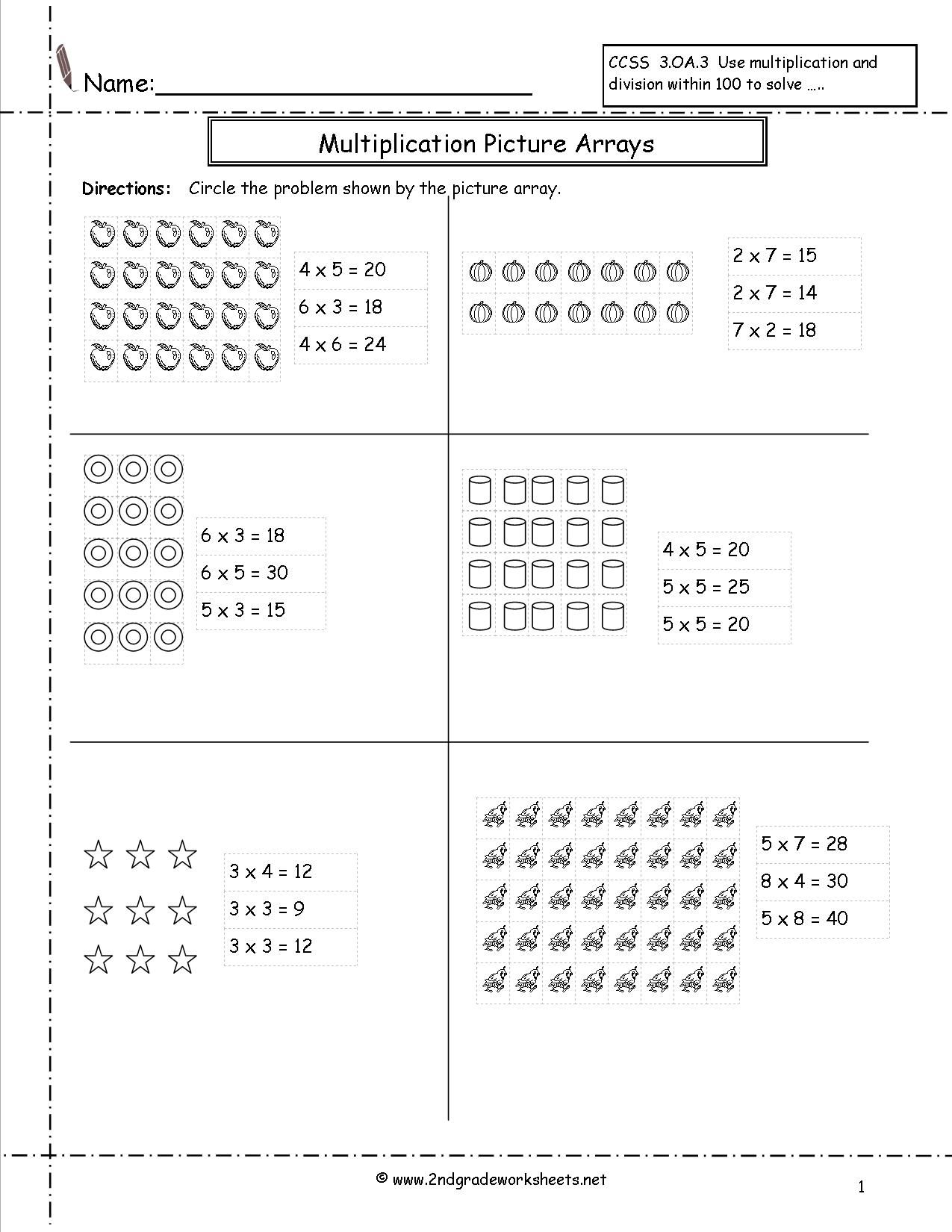 12 Photos of Multiplication Arrays Worksheet 2nd Grade   Array worksheets [ 1650 x 1275 Pixel ]