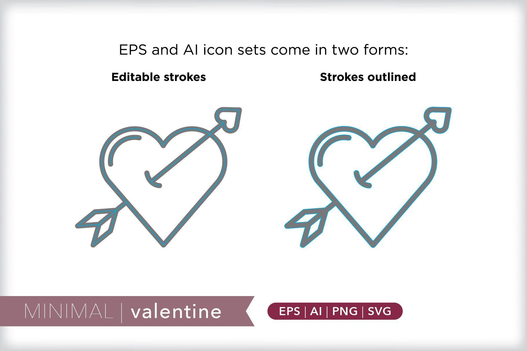Minimal valentine icons Icon, Social media images