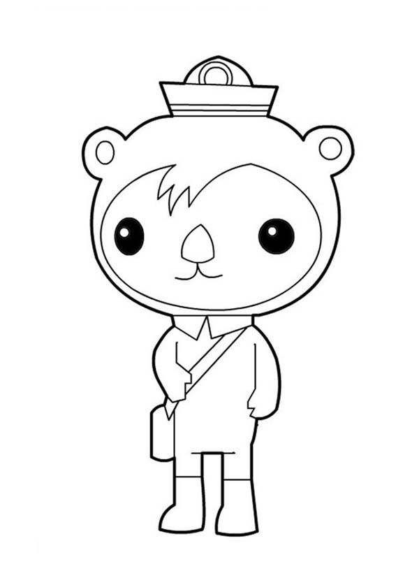 the octonauts awesome shellington sea otter from the octonauts coloring page