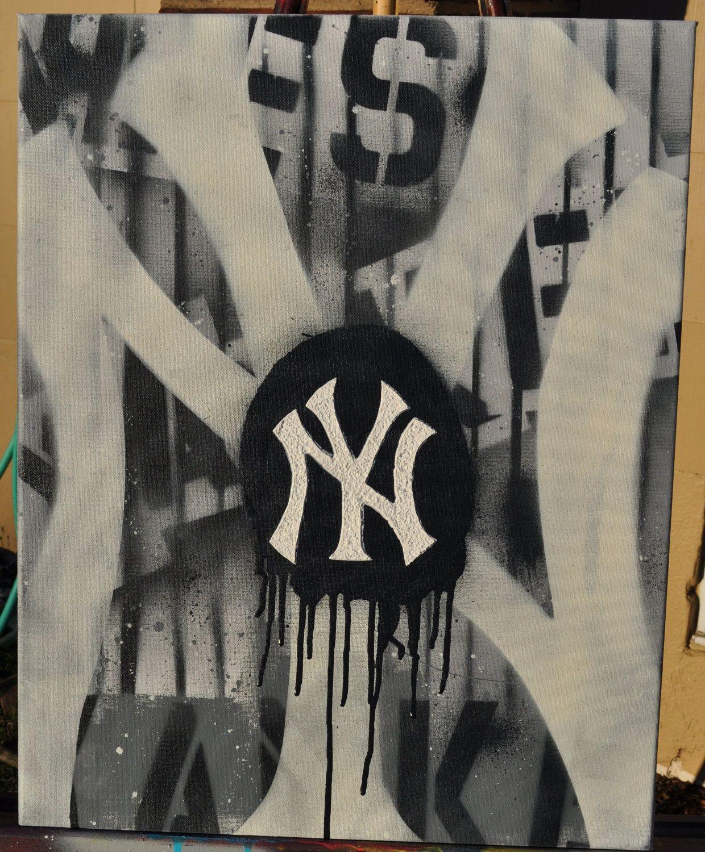 Ny Yankees Graffiti Fine Art By Summo Ny Yankees Yankees New York Yankees