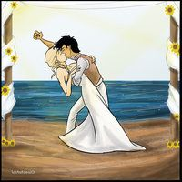 Mr. and Mrs. Jackson-This is the BEST wedding picture pose ever! Bravo Percy!