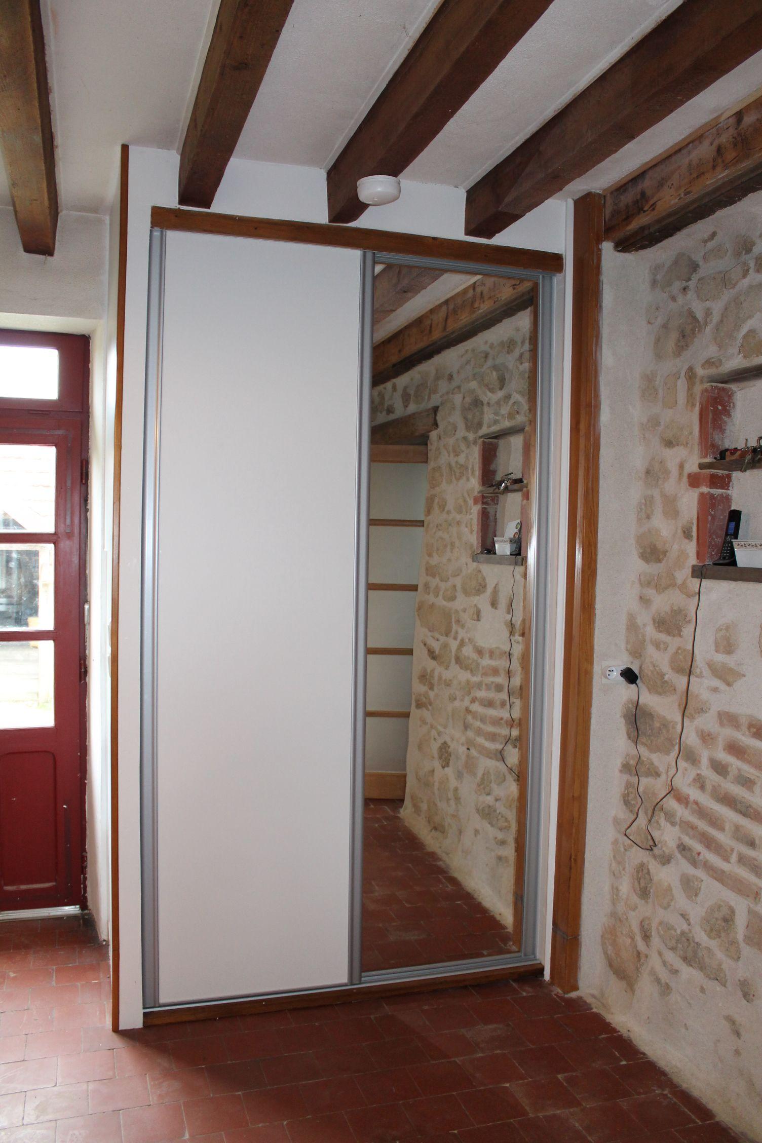 Porte De Placard Coulissante Httpwwworiondressingscomportes - Porte placard coulissante et menuiserie porte coulissante